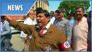 Indian politician dresses up as ADOLF HITLER