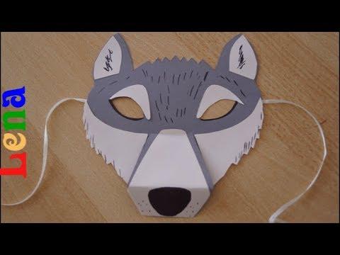 Weihnachtsmann Maske Basteln Mit Lena Youtube