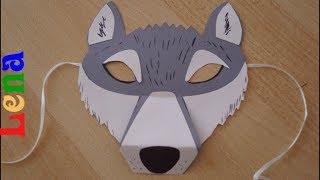 як зробити маску вовка з картону