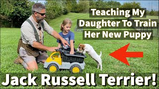 Teaching My Daughter to Train Her Jack Russell Terrier Puppy | Online Course Excerpt