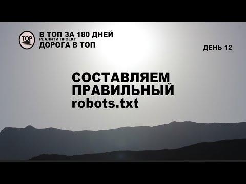 Создаем правильный Robots Txt