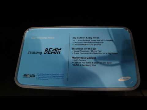 Samsung i8520 Beam - prezentacja dla GSMonline.pl - Mobile World Congress 2010 - Barcelona