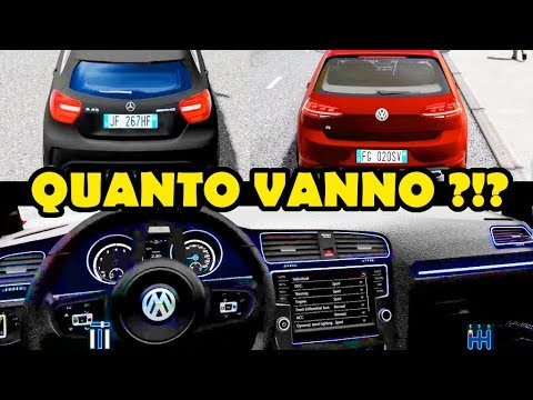 mercedes a45 amg vs golf r top speed city car driving youtube. Black Bedroom Furniture Sets. Home Design Ideas