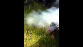 Mountfield LS45 Petrol Lawn Mower Smoking