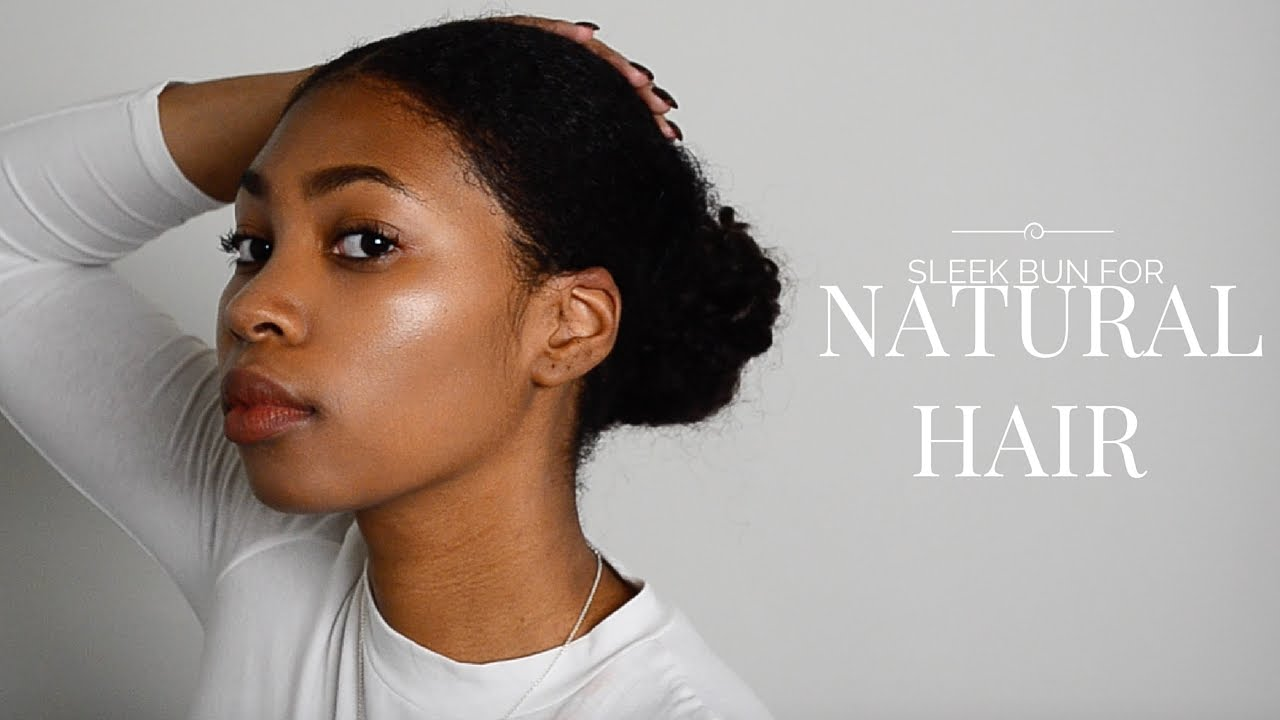 How To Get Thick Short Natural Hair In A Bun Youtube