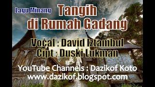 Gambar cover Lagu Minang : Tangih di Rumah Gadang - David Iztambul