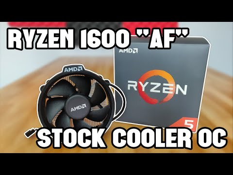 Ryzen 1600 Af Overclocking On The Stock Cooler Youtube