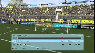 FIFA 16 completely controlled by  momentum scripting distance 37m , minute 90
