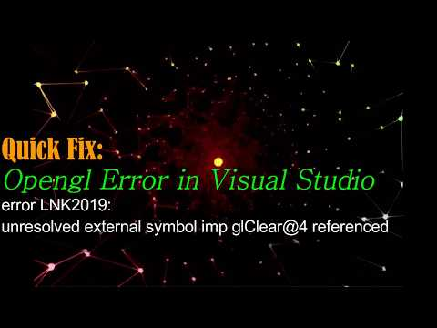 error LNK2019 unresolved external symbol imp glClear@4 referenced