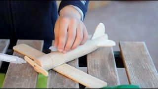 Juguetes de madera, hacer una avioneta para niños.