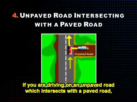 Texas Driver Safety Course - Intersections