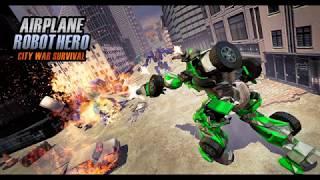 Airplane Robot Hero City War Survival