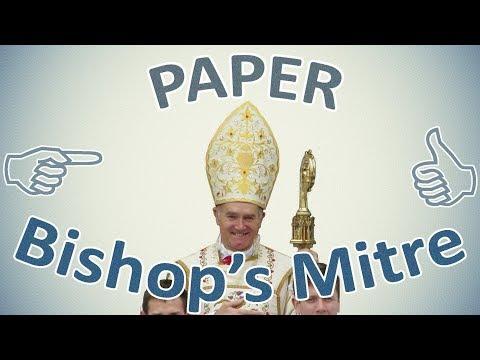 Paper Bishop's Mitre. DIY