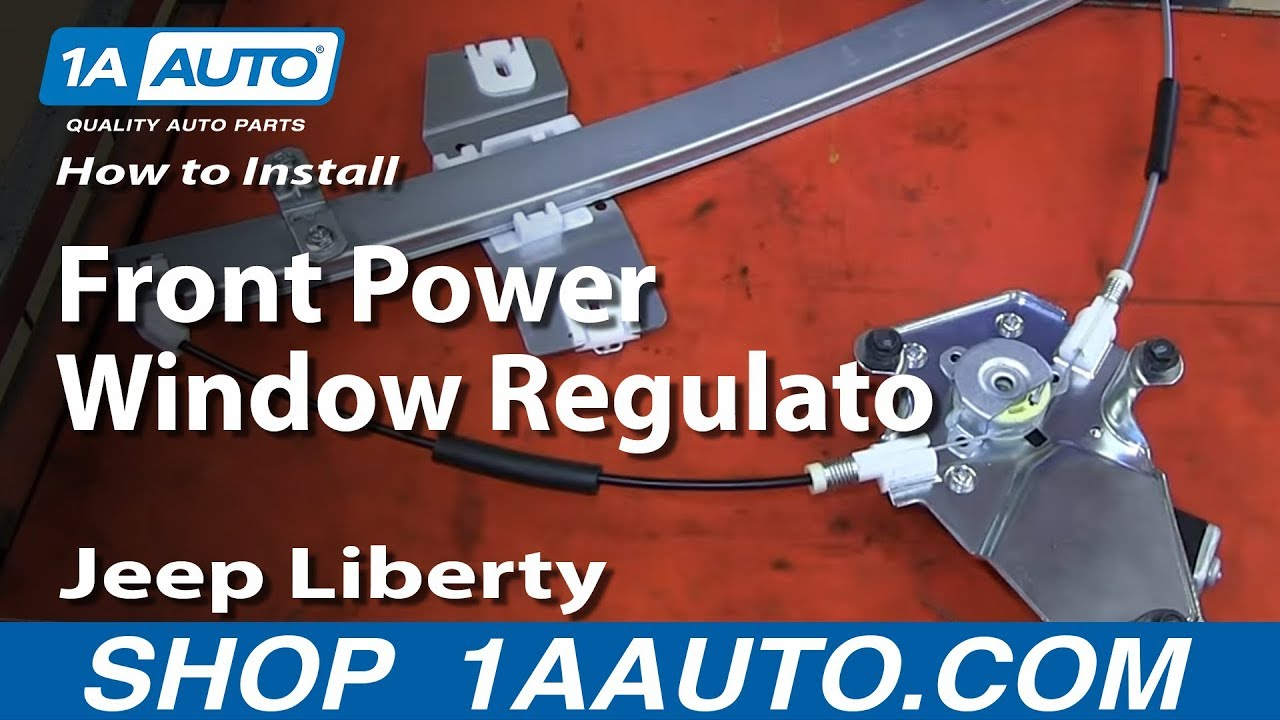 hight resolution of how to install replace front power window regulator 2002 07 jeep liberty