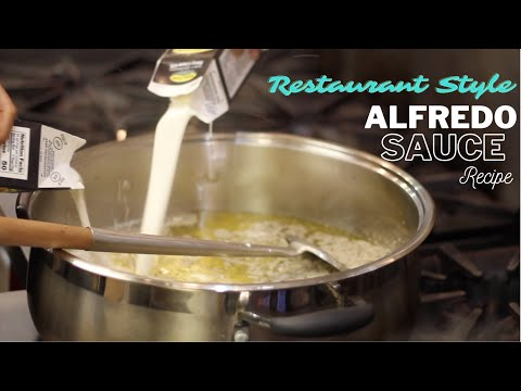 How to make easy Olive Garden style Alfredo Sauce Recipe | restaurant style alfredo sauce. #Alfredo