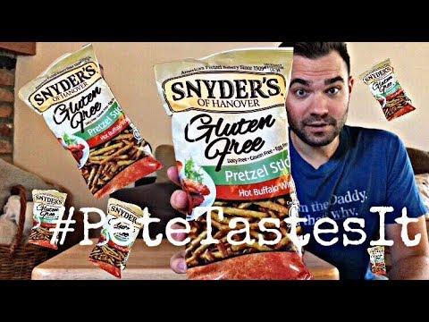 #PeteTastesIt Snyder's Gluten Free Hot Buffalo Wing Pretzel Sticks
