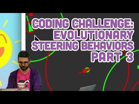 Coding Challenge #69.3: Evolutionary Steering Behaviors - Part 3