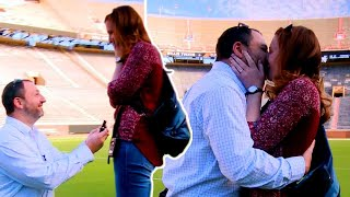 Boyfriend Turns Tennessee Football Stadium Tour Into Surprise Proposal