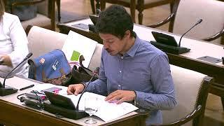 Segundo González en la Comisión para las Relaciones con el Tribunal de Cuentas el 24 de abril