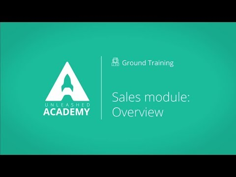 Sales module   overview