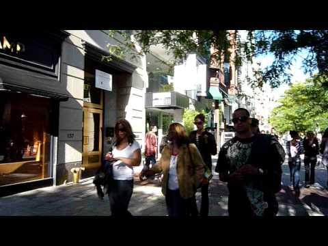 Stroll down Newbury Street in Boston