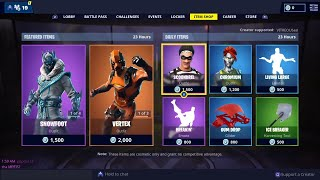 SNOWFOOT, SNOWSTRIKE, VERTEX Skins are BACK - March 12th Fortnite Daily Item Shop LIVE