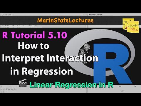 Interpreting Interaction in Linear Regression (Tutorial 5.10)