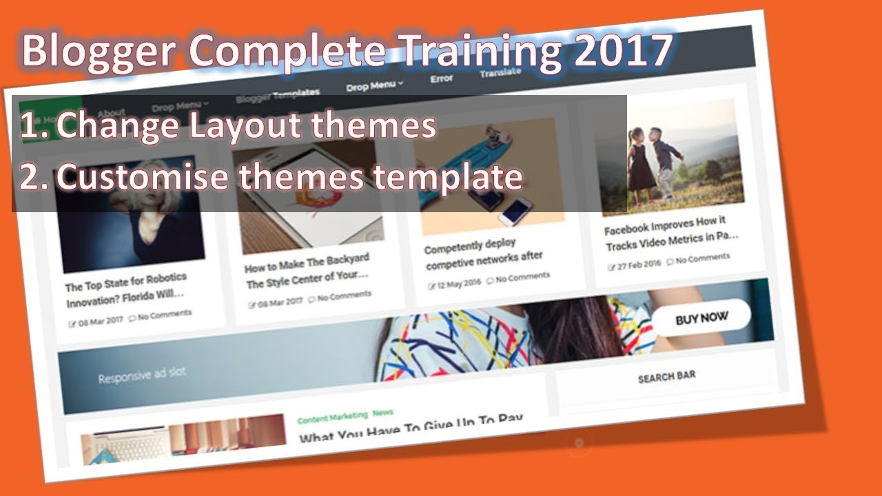 How To Edit Blogger Template | How to Customize Blogger Template ...