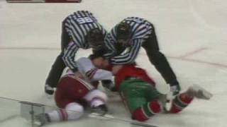Keith Yandle vs Cal Clutterbuck Nov 13, 2008
