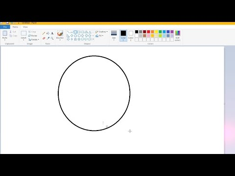 How to draw a perfect circle in Microsoft Paint
