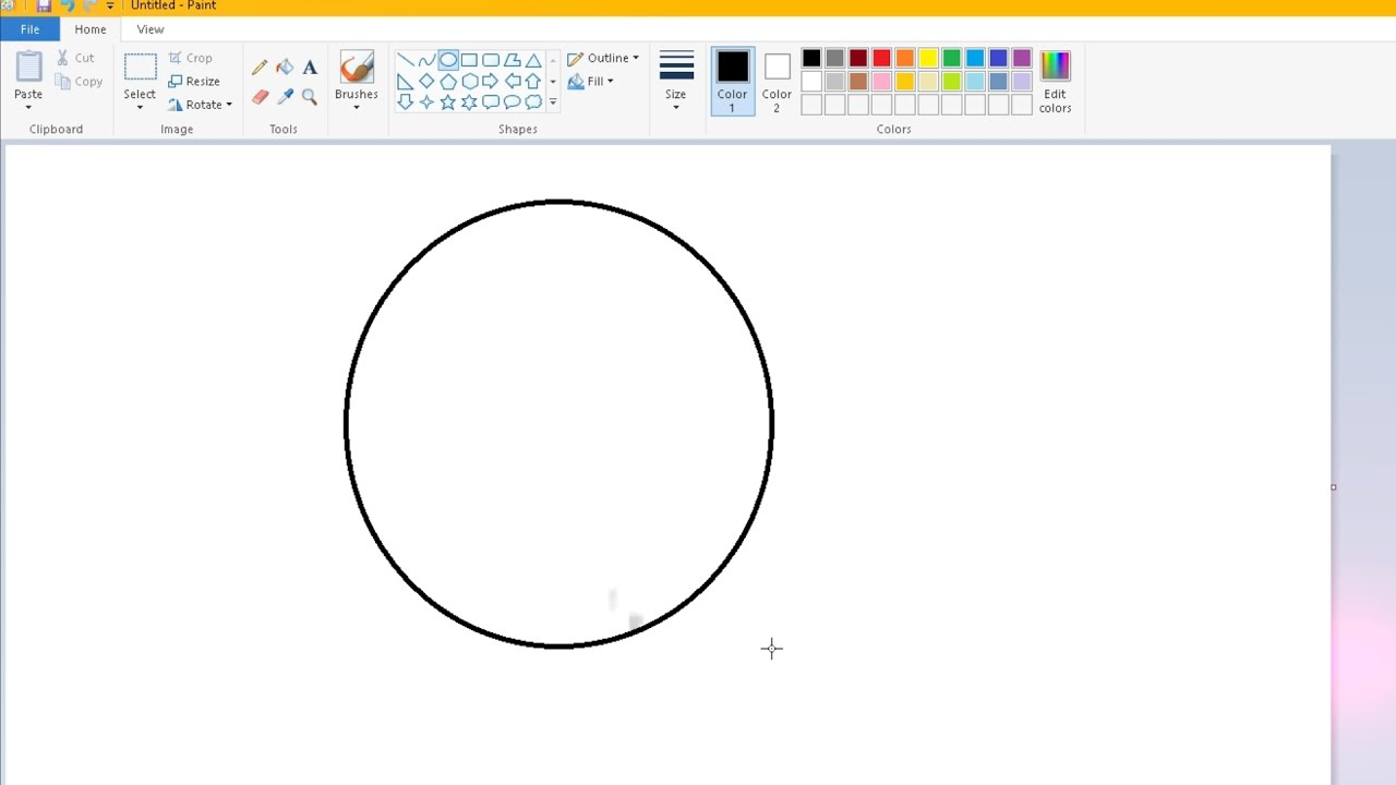 How To Make A Perfect Circle In Microsoft Paint