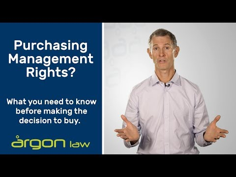 What are Management Rights? | Legal Advice from a Sunshine Coast Commercial Lawyer | Argon Law