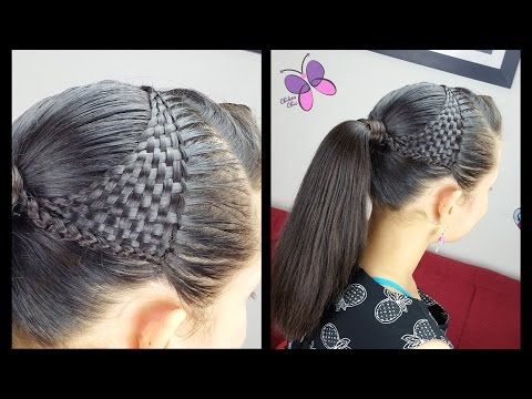 Basket Woven Ponytail - Basket wave | Cute Girly Hairstyles | Hairstyles for School