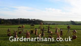 Handmade Wooden Garden Windmill, Lighthouses, Wishing Wells, Bird Tables