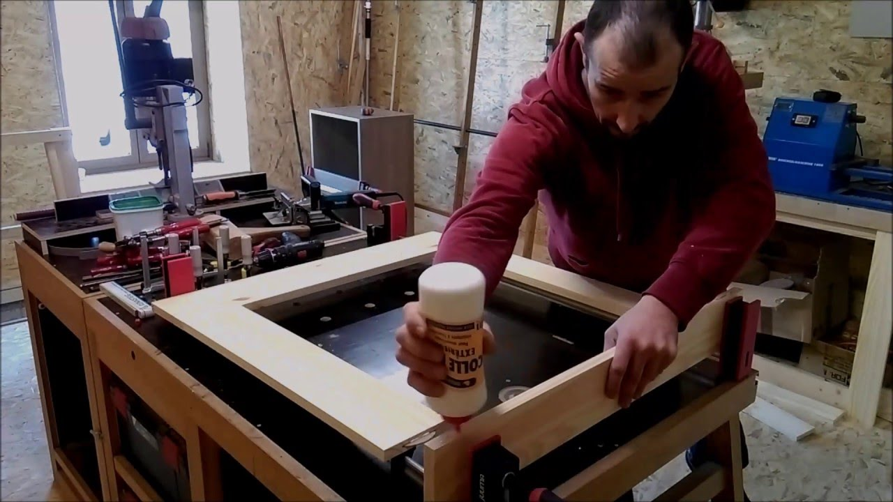 cfbbe324cdf Fabrication d un meuble d atelier - YouTube