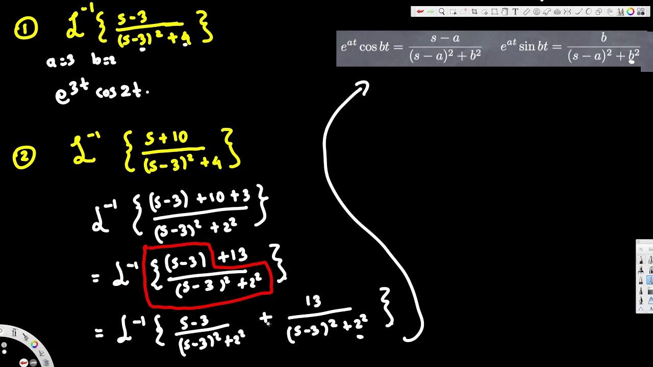 Inverse Laplace Transform 3 Differential Equations Laplace Transform Differential Equations Laplace