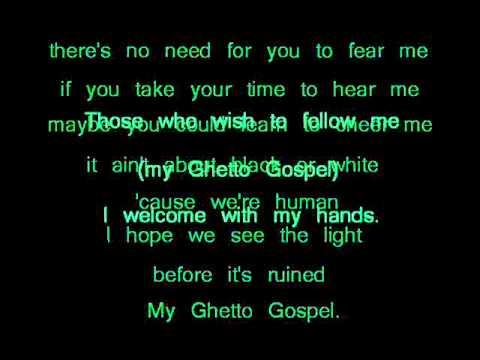 2Pac - Ghetto Gospel (with lyrics)