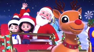 джингл колокола | Санта-Клаус песня | Рождественские рифмы для детей | Xmas Songs | Jingle Bells