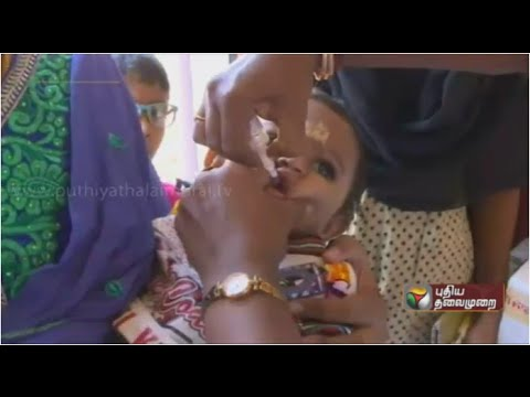 Polio drops camp begins all over India