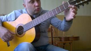 Уроки гитары.Вступление в песне Две души-Малинин Ваенга