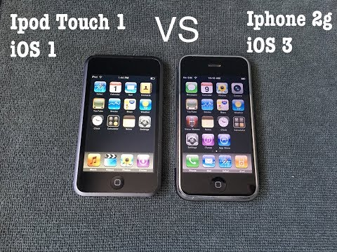 Ipod Touch 1st Generation iOS 1 vs Iphone 2g iOS 3 Speed Test