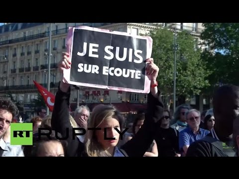 France: Protesters rally in Paris ahead of surveillance law vote