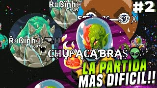 LA PARTIDA mas DIFICIL #2 | Agar.io | Nuevos SKINS FURIA de TITANES | Rubinho vlc