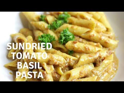 Sundried tomato basil pasta ( creamy vegan pasta recipe)
