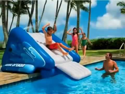 kool splash inflatable pool slide youtube. Black Bedroom Furniture Sets. Home Design Ideas