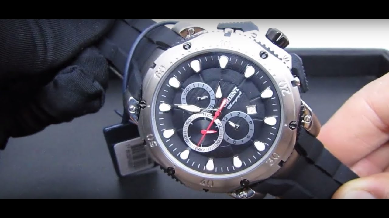 92dfce39cd1 Relógio Masculino Orient MBTPC005 Titanium XL Extra Large com Cronógrafo  Detalhes
