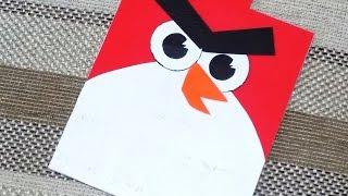 Как сделать открытку Angry Birds своими руками. DIY