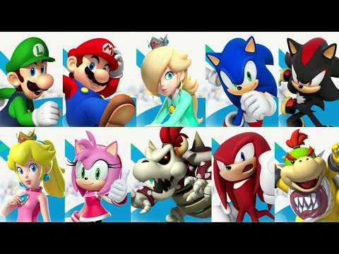 Mario and Sonic at the Rio 2016 Olympic Games (Wii U) - All Characters