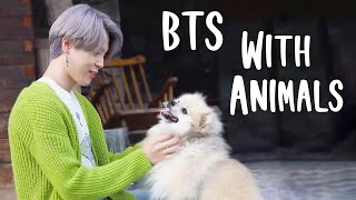 BTS WITH ANIMALS :)