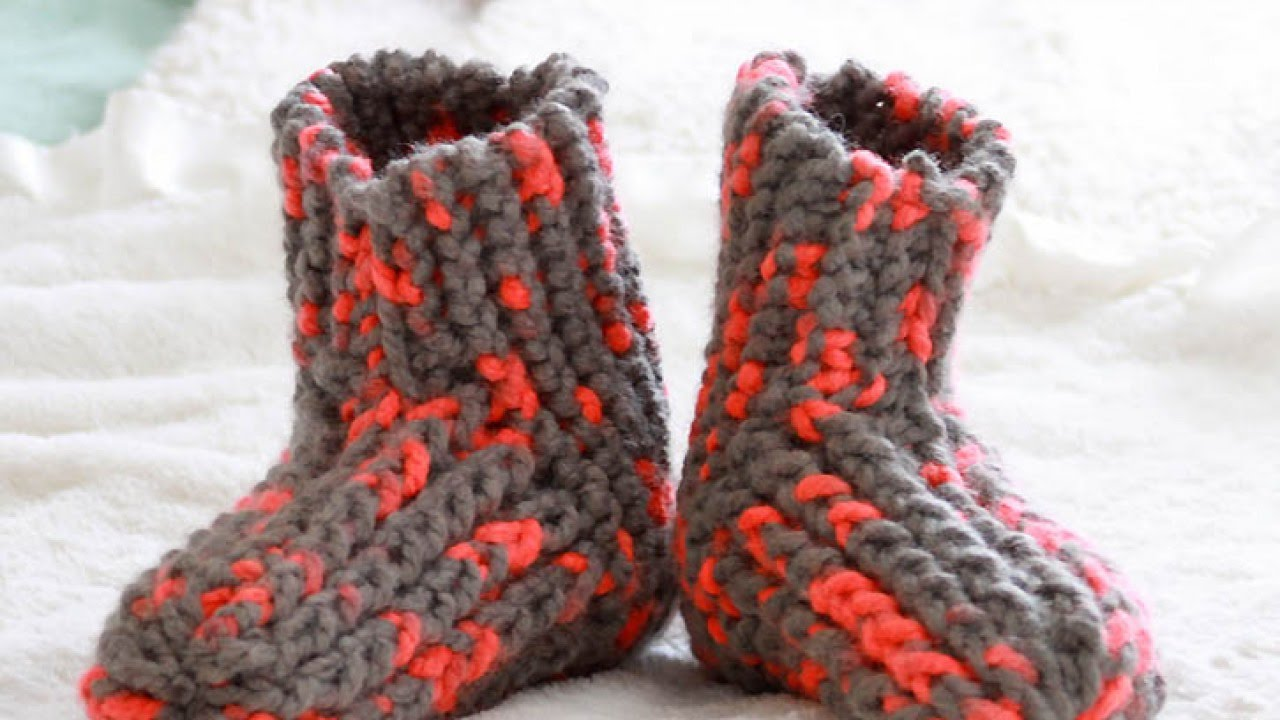 How To Knit Cute And Cozy Slippers Diy Style Tutorial